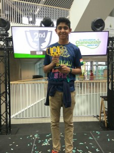 Dhruv with award