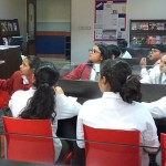Inter-disciplinary session for pupils of Grade 6 Visual Arts with the Dean of Libraries 1